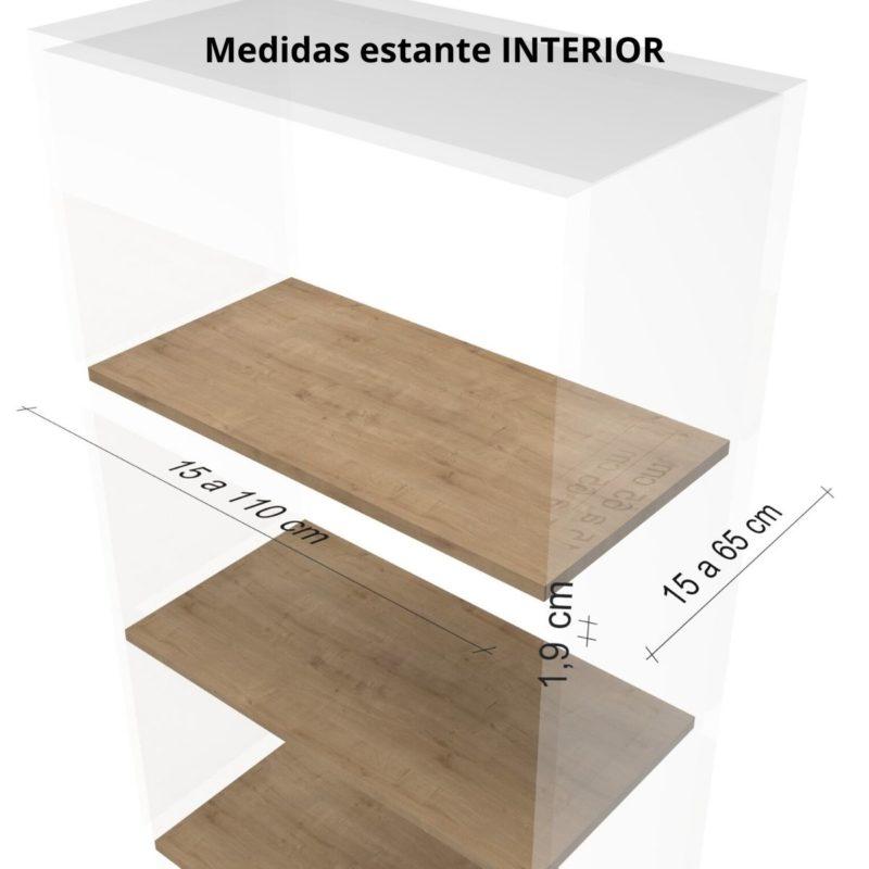 Medidas Estante interior