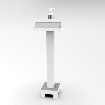 Dispensador para gel hidroalcohólico y Bandeja para caja guantes desechables, anticontagio, Coronavirus